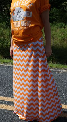 Women's Maxi Skirt Long Tall Modest Tangerine by ModestSwimming, $35.00