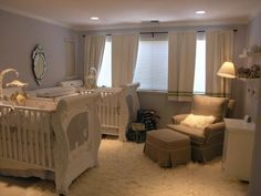 Twin baby rooms boy and girl kids rooms boy girl twin baby nursery ideas twin baby Twin Baby Rooms, Baby Bedroom, Twin Babies, Baby Twins, Twin Room, Twin Nurseries, Neutral Nurseries, Bedroom Boys, Mom Baby