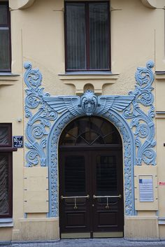 Art Nouveau Door, Riga, Latvia