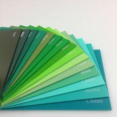 Linha Lisas Coloridas - Diversas Cores - Verde / #acrilico #acrylic #pmma #chapadeacrilico #sinteglas #verde #green #cores