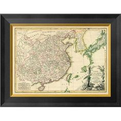 Global Gallery China, 1791 by Rigobert Bonne Framed Graphic Art on Canvas Size: