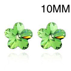 Bijouterie Swarovski Flower Stud Earrings