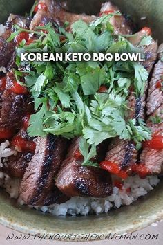 A quick and easy version of a famous Korean dish! You can make this Korean BBQ Keto Bowl at home pretty much anytime and if you have meat leftover makes for a great salad topping.
