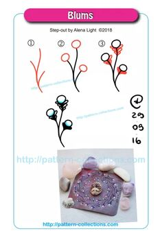 Blums by Alena Light Zen Doodle Patterns, Doodle Art Designs, Zentangle Patterns, Tangle Doodle, Tangle Art, Zentangle Drawings, Doodles Zentangles, Tangled Flower, Bee On Flower