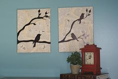 •❈• Lovely bird art.  Great tutorial with pictures and text, and a video also.