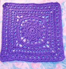Ravelry: Free SmoothFox's Amethyst Square 12x12 pattern by Donna Mason-Svara Crochet-a-long extra