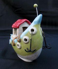 ceramic boat Hausboot, Keramik