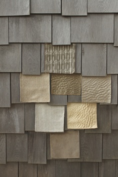 """""""Shingle Style"""", neutral textures by Suzanne Tucker Home"""