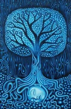 Maybe you are searching among branches for what only appears in the Roots. ~ Rumi ♥ Artist: Russ Jones, Tree of Life