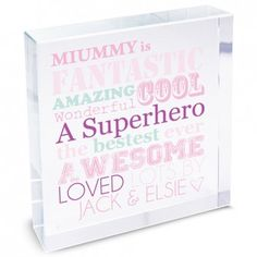 Personalised She is... Large Crystal Block