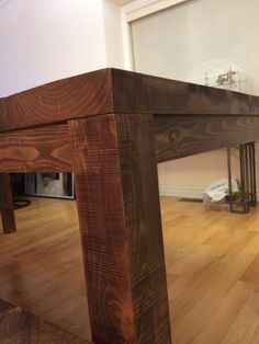 Rustic Dining Table with Matching Bench Corner Desk, Entryway Tables, Bench, Dining Table, Rustic, Furniture, Home Decor, Homemade Home Decor, Diner Table
