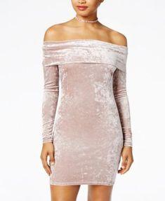 4b8c3aafc700 Material Girl Juniors  Velvet Bodycon Dress