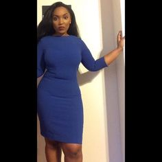 H&M Blue Pencil dress Super cute H&M Navy blue pencil dress only worn twice ! It accentuates each and EVERY curve. H&M Dresses