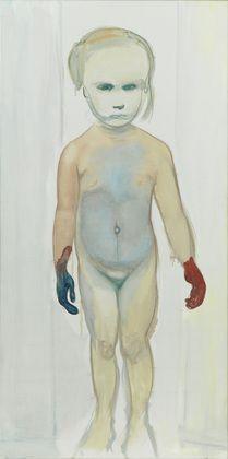 """The Painter, Marlene Dumas b.1953,   1994. Oil on canvas, 6' 7"""" x 39 1/4""""  intense girl power!"""