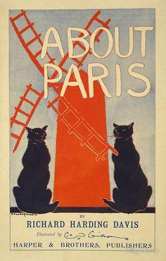 Vintage French Paris poster