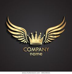 Find 3d Winged Crown Golden Logo Vector stock images in HD and millions of other royalty-free stock photos, illustrations and vectors in the Shutterstock collection. Thousands of new, high-quality pictures added every day. En Stock, Stock Foto, Design Art, Logo Design, Graphic Design, Egyptian Eye Tattoos, Barber Logo, Disney Decals, Fruit Logo