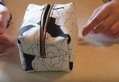Step 7. Turn it Inside Out | Sew Your Own DIY Makeup Bag | Cosmetics Bag Sewing…