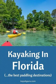 Kayaking in Florida is a great way to see the state and everything that it has to offer, from freshwater lakes and mangrove tunnels, to saltwater coasts with alligators and dolphins! Remember your water and sunscreen before you start exploring these amazing spots. Florida Travel Guide, Florida Vacation, Florida Beaches, Get Outdoors, The Great Outdoors, Kayak For Beginners, Places To Travel, Places To Visit, Kayaking Tips