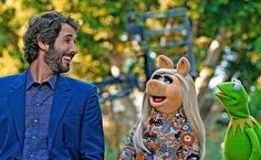 Josh, Kermit and Piggy #TheMuppets on ABC
