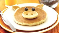 Piggy Pancakes What a fun way to gather the family! Make piggy pancakes your new tasty tradition.