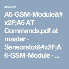 AT Commands.pdf at master · · GitHub Arduino, Pdf, Tecnologia