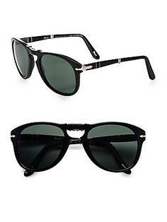 Persol Vintage Folding Keyhole Sunglasses