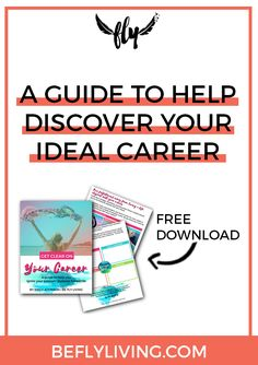 You have a special gift. A purpose. A calling that is unique to you – AND IT'S TIME TO DISCOVER IT! Download your FREE COPY of Get Clear on Your Career and ignite your passion + purpose fueled life once and for all!