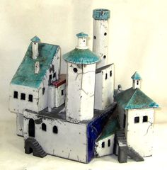 CERAMIC VILLAGE STRUCTURE by EuropeanRetro on Etsy