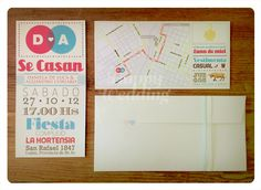 #Invitations // #Invitaciones de boda · D+A ·  Realizadas por Happy #Wedding