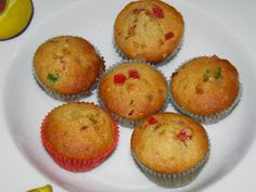 MIS RECETAS RÁPIDAS Y SORPRENDENTES (Recetasdebelen): MINI MAGDALENAS DE FRUTA CONFITADA Cake Pops, Cupcakes, Muffins, Breakfast, Food, Candied Fruit, Sweets, Deserts, Mini Muffins