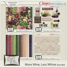More Wine, Less Whine {bundle} by Little Rad Trio