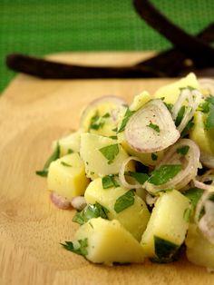Recette de Salade Pomme de terre échalotes de mamie Margot - Marmiton