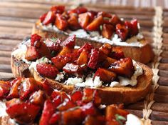 Food Wishes Video Recipes: Balsamic Strawberry Goat Cheese Bruschetta – Currently Trending