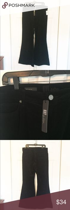 "KUT from the Kloth Jane Super Flare NWT Black flare jeans - velvety corduroy feel.  Size 14, approx. 18"" across waist x 10"" rise x 33"" inseam.  98% cotton, 2% spandex.  Never worn, tags still attached! Kut from the Kloth Jeans Flare & Wide Leg"