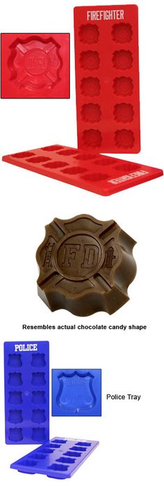 Firefighting professionals shop for helmets, flashlights, boots, badges and shields at TheFireStore.com - Ice Cube Trays with Maltese Cross or Badge Molds