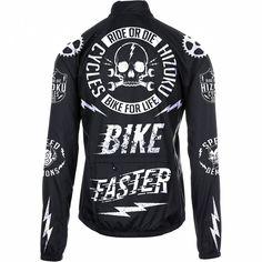 """Hizoku """"Ride or Die Black Cycling Windbreaker"""""""