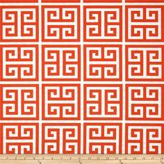 Premier Prints Indoor/Outdoor Towers Orange - Discount Designer Fabric - Fabric.com