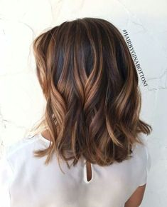 Brunette Balayage Short Hair