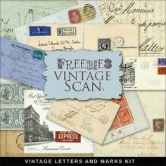 Freebies Cartas Vintage e Marcas Kit