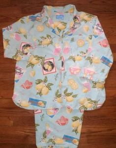 WOMENS XL 2pc NICK & NORA PAJAMAS PJs sleepwear SUMMER-themed SO CUTE!