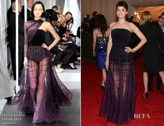 Marion Cotillard (fashion)  In Christian Dior Couture - 2012 Met Gala