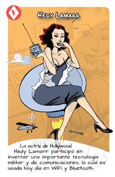 La actriz, inventora e ingeniera (amateur) de telecomunicaciones Hedy Lamarr (1914–2000) nació un 9 de noviembre