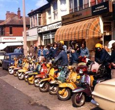 scooterscene: This looks very I mean, look at all that Denim. Retro Scooter, Lambretta Scooter, Fred Perry Polo Shirts, Mod Girl, Pocket Bike, Mod Fashion, Desert Boots, Motorbikes, Chelsea Boots