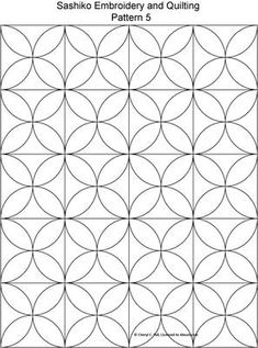 FREE Sashiko Embroidery Patterns - Set 1