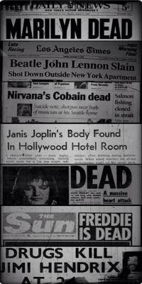 kurt cobain jimi hendrix john lennon Freddie Mercury Janis Joplin Elvis Presley marlyn monroe all fucking dead Uicideboy Wallpaper, The Beatles, Rock And Roll, Jimi Hendricks, Mode Rock, Hollywood Hotel, We Will Rock You, Star Wars, John Lennon