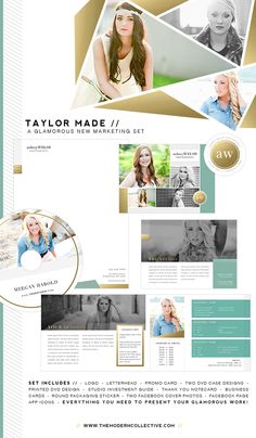 Taylor Made Gold Foil Marketing Set | The Modern Collective