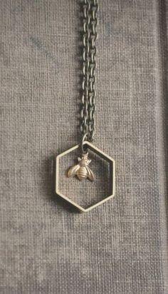 tiny bee necklace