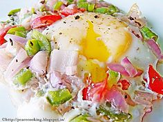 Sunny side up eggs   Same old breakfast with eggs but with a healthy twist!