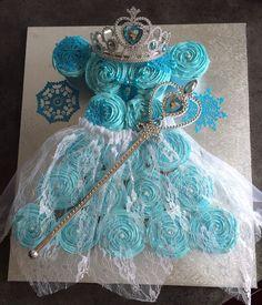Frozen theme princess cupcake dress