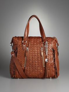 love woven leather bags